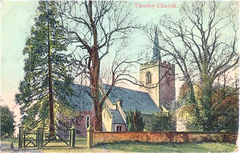 Title: Thorley Church - Publisher: M&W Canon Series (Mitchell & Watkins)  - Date Probably pre WW1 (printed in Belgium)