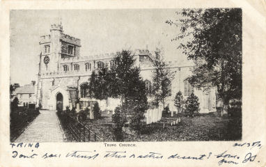 Post Card of Tring Church, Herts, circa 1900