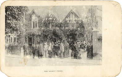 Post Card showing opening of Museum at Tring, c1900