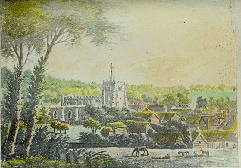 Painting of Tring Church and Frogmore Street