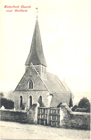 Title: Waterford Church, near Hertford - Publisher: Charles Martin, 39 Aldermanbury, London E C  No 2163 - Date: Circa 1903 (Inland only)