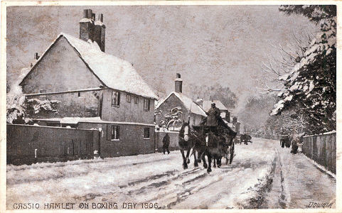 Cassio Hamlet, Watford, Snow, Boxing Day 1906, by Fred Downer