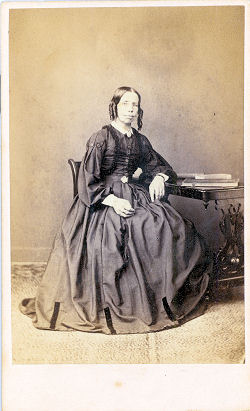 CDV showing lady - by Frederick Downer, Watford - circa 1870s