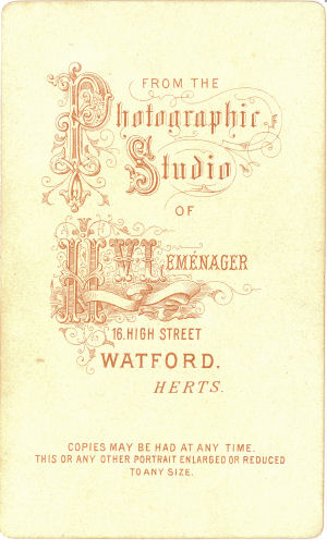 CDV by Lemenager of Watford, Herts