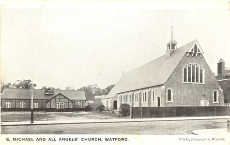 St Michael & All Angels, Watford, before the tower was built