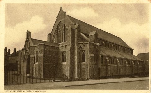 St Michael & All Angels, Watford, before tower was built