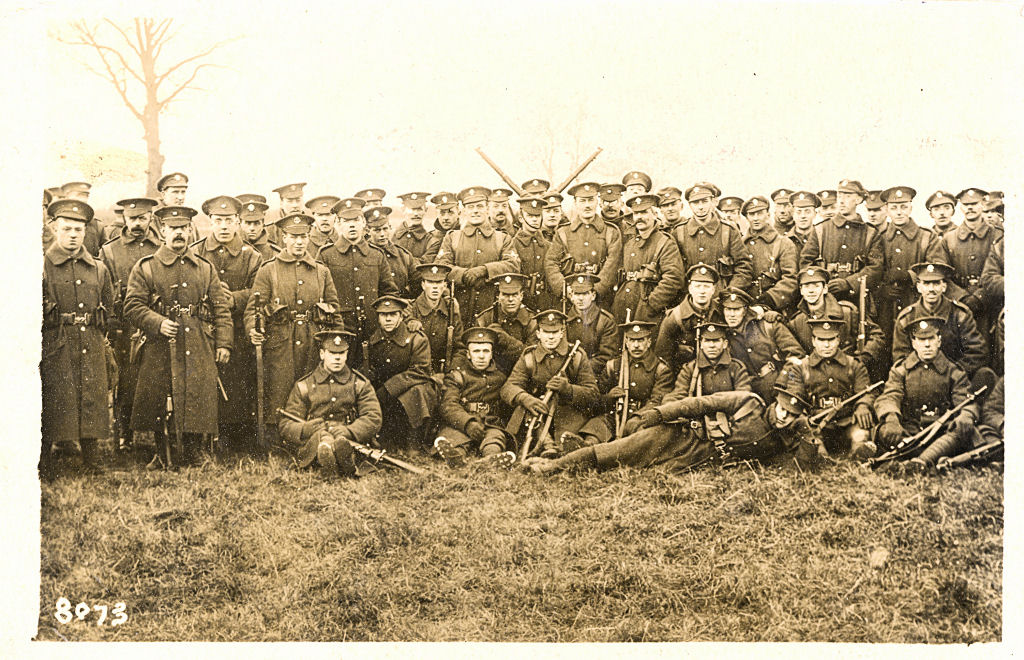 Infantry, ww1, post card by Cull, Watford, London Regiment, Middlesex Regiment