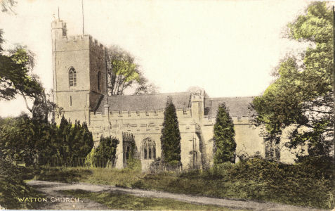 Parish Church, Watton at Stone, Hertfordshire, Vulcan Series Post Card