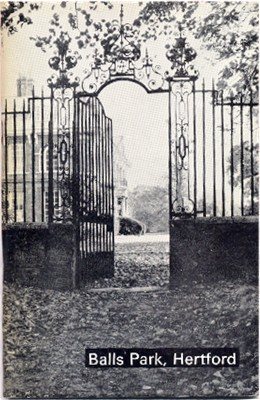 Hertfordshire Genealogy: Book 0330: Balls Park, Hertford House Plans