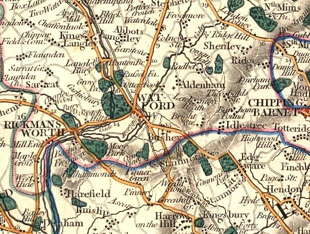 watford england city map