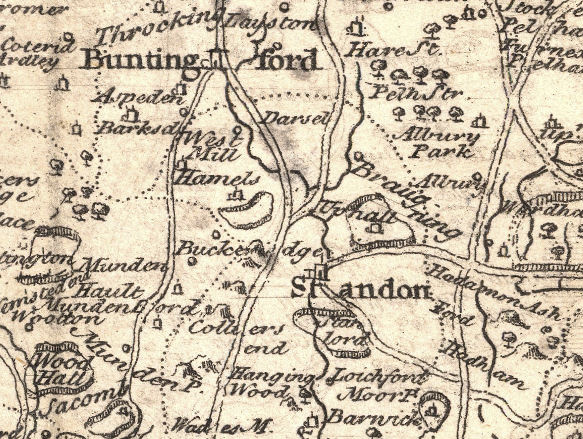 Braughing map