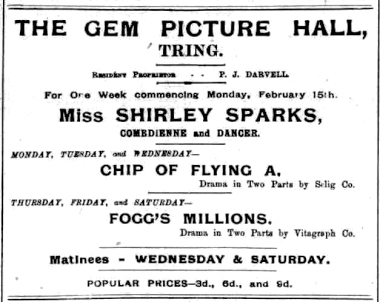 Gem Picture Hall, Darvell, Shirley Sparks