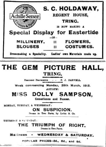 Holdaway, Gem Picture Hall, Sampson, Darvell,