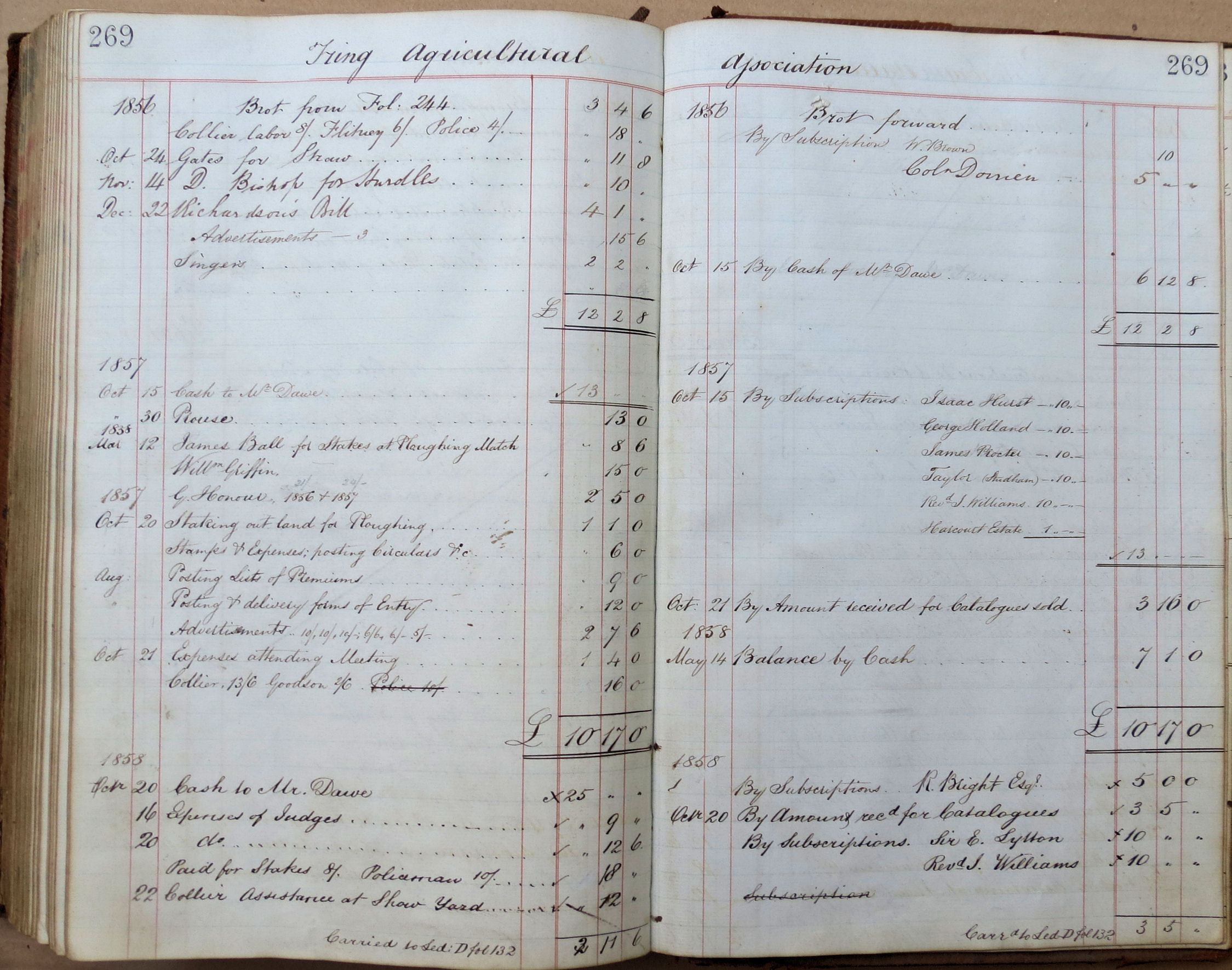Hertfordshire Genealogy: Places: Tring; William Brown\'s Account Book ...