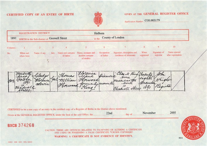 Hertfordshire genealogy family history tutorial session 1 - General register office birth certificate ...